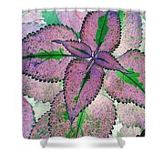 Plant Pattern - Photopower 1211 Shower Curtain