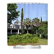 Plantation Home At Magnolia Plantation Shower Curtain