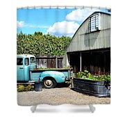 Planted Truck Bed Shower Curtain