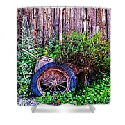 Planted Wheel Shower Curtain