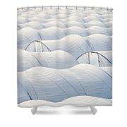 Plastic Sheet Greenhouses To Grow Veggies Shower Curtain