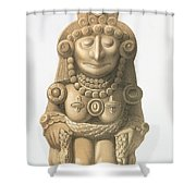 Plate From Ancient Monuments Of Mexico Shower Curtain