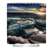Plate Ice Brighton Beach Duluth Shower Curtain