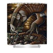 Plateosaurus Dinosaur Nest Shower Curtain
