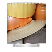 Plates Dishes And Cups Drying Shower Curtain