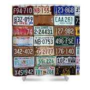 Plates Shower Curtain