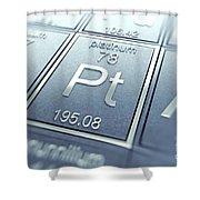 Platinum Chemical Element Shower Curtain