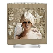 Platinum Friends Shower Curtain