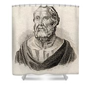 Plato From Crabbes Historical Dictionary Shower Curtain
