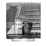 Platt Street Bridge Opening Shower Curtain by David Lee Thompson