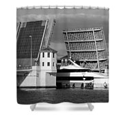 Platt Street Bridge Up Shower Curtain