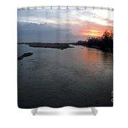 Platte River, Nebraska Shower Curtain