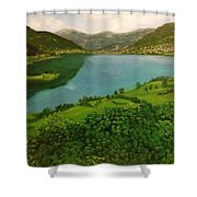 Plav Montenegro  Shower Curtain