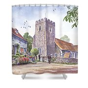 Plaxtol Church Wedding Shower Curtain