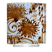 Play Brush And Ink Shower Curtain
