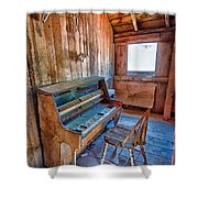Play It Again Sam Shower Curtain by Cat Connor