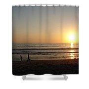 Play On California Beach Shower Curtain