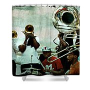 Play That Trumpet Shower Curtain