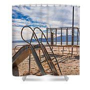 Play Time Is Over Slide Playground Shower Curtain