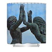 Playa Del Carmen Statue Shower Curtain