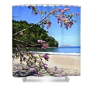 Playa Espadillia Sur Manuel Antonio National Park Costa Rica Shower Curtain