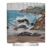 Playa Zicatela Mexico Shower Curtain