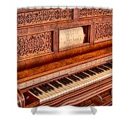 Piano Keys In The Key Of Life Shower Curtain