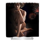 Chynna African American Nude Girl In Sexy Sensual Photograph And In Color 4774.02 Shower Curtain