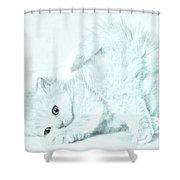Playful Kitty Shower Curtain