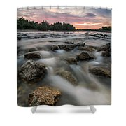 Playful River Shower Curtain