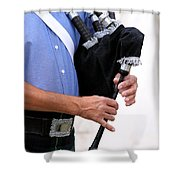 Playing Bagpipe Shower Curtain