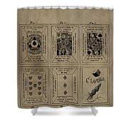 Playing Cards Patent Shower Curtain