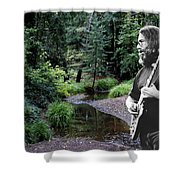 Playing For The Creek Shower Curtain