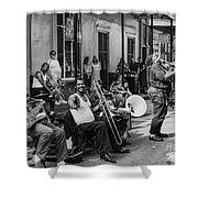 Playing Jazz On Royal Street Nola Shower Curtain