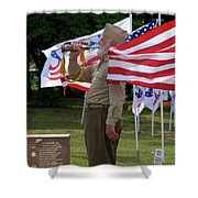 Playing Taps 2 Panel Composite Digital Art Shower Curtain