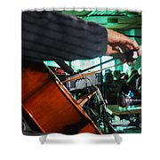 Playing The Cello  Shower Curtain