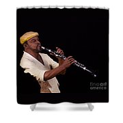 playing the Clarinet Shower Curtain