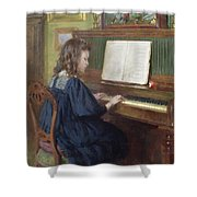 Playing The Piano Shower Curtain