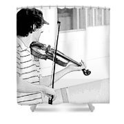 Playing Violin Shower Curtain