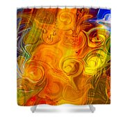 Playing With Bubbles Textured Abstract Artwork By Omaste Witkows Shower Curtain by Omaste Witkowski