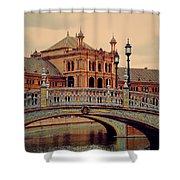 Plaza De Espana 10. Seville Shower Curtain by Jenny Rainbow