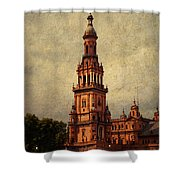 Plaza De Espana 2. Seville Shower Curtain by Jenny Rainbow