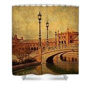 Plaza De Espana 9. Seville Shower Curtain by Jenny Rainbow