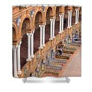 Plaza De Espana Colonnade In Seville Shower Curtain by Artur Bogacki