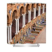 Plaza De Espana Colonnade In Seville Shower Curtain