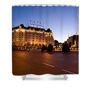 Plaza De Neptuno And Palace Hotel Shower Curtain