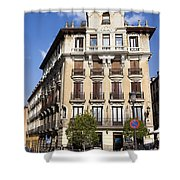 Plaza De Ramales Tenement House Shower Curtain