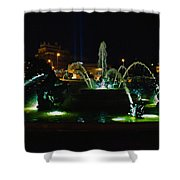 Plaza Fountain Shower Curtain