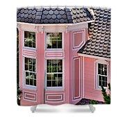 Beautiful Pink Turret - Boardwalk Plaza Hotel Annex - Rehoboth Beach Delaware Shower Curtain
