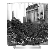 Plaza Hotel From Central Park Shower Curtain